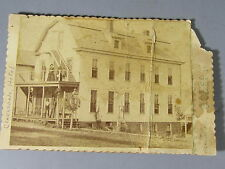 Cabinet Card Photograph of the Clarksdale Hotel Clarksdale Missouri