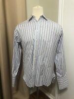 Charles Tyrwhitt Classic Men's 16-35 Blue Striped French Cuff Shirt