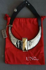 NWT UNO De 50 Silver Gold 20TH ANNIVERSARY MAKING HISTORY Necklace RP $650