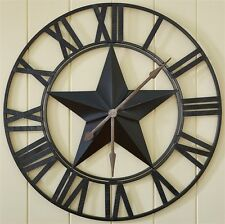 Huge Star Wall Clock - Barn Star - Iron - Park Designs - Free Shipping!
