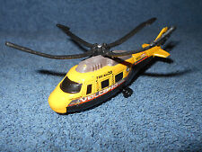 2001 MATCHBOX RESCUE HELICOPTER - VOLCANO VOYAGER - 1:64 YELLOW DIECAST - NICE