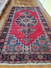 New listing 3.7x6.3 Vintage Serapi Heriz Rug Oushak Antique Kazak Caucasian Shirvan