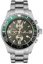 Orologio Lorenz Cronografo 030049CC al quarzo uomo acciaio nero e verde data