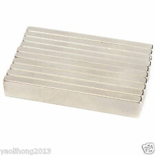 10Pcs Super Strong Block Fridge Magnets 60x10x4mm Rare Earth Neodymium N50