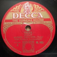 "Alfred piccaver-ARBRES/The Song of Songs-DECCA M.405 - 10"" Shellac UK"