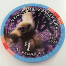 $1 Las Vegas Mandalay Bay Year of the Monkey Casino Chip - UNCIRCULATED