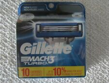 Gillette Mach3 Turbo Cartridges Package of 10