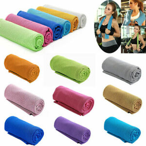 Fitness Quick-Dry Cooling Sport Soft Towel Gym Jogging Exercise Camping Washrag