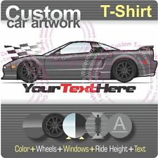 Custom T-shirt inspired on 90-05 NSX-T R not affiliated with HONDA N.Am. , Acura