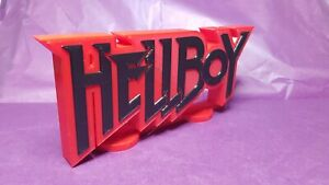 Hellboy - 3D Printed comic book logo - This is a great piece of shelf art