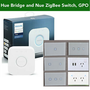 Philips Hue Bridge & Approved Smart Light Switch Dimmer GPO 4 Google Home Alexa