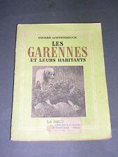 Chasse Les garennes et leurs habitats Loevenbruck 1954 etude illustrée