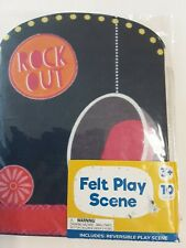 """Reversible Felt Play Scene """"Rock Out Stage"""" W/Storage Pocket & 9 Pieces NEW!"""