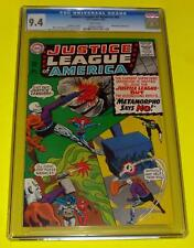 1966 JUSTICE LEAGUE OF AMERICA #42 CGC 9.4 White NM 1st Metamorpho Batman Supes