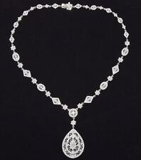EXTRAORDINARY!! 35.8g Solid 18k 7.00 ctw NATURAL Diamond Antique Style Necklace