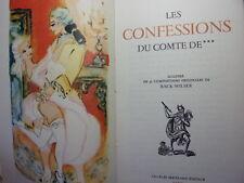 CURIOSA / LES CONFESSIONS DU COMTE DE***  Charles Pinot Duclos