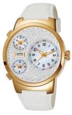 Esprit Collection Damenuhr Polydora Daylight Gold EL101292F06 Analog  Leder Weiß