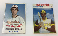 two Hostess handcut cards ~ 1977 JIM PALMER #1, 1979 DAVE WINFIELD #125