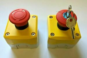 Emergency stop button stop switch twist to release Mushroom Stop Key Lockoff