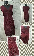 BEAUTIFUL LANE BRYANT DRESS-SZ 18/20- BURGUNDY AND BLACK FLORAL-NWOT