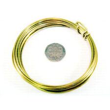 1 x Goldfarben Auflage Messing 1.5mm x 1.75m Rund Draht Rolle W9150