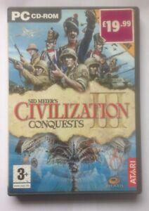 Sid Meier's Civilization Conquests 3 PC CD-ROM Atari