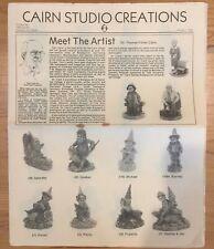 Cairn Studio Creations Newsletter Wholesalers Newspaper Tom Clark Jan 1984 E516