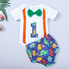Newborn Baby Boy Short Sleeve Bow Tie One-year-old Birthday Shorts Outfit Sets