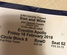 Iron and Wine London ConcertTicket 16/02/18