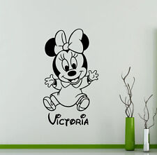 Personalized Minnie Mouse Wall Decal Vinyl Sticker Custom Art Decor Murals 32me