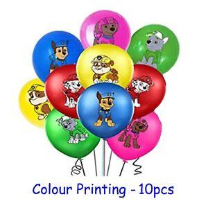 Paw Patrol Balloons 10pcs Coloured Printed Latex Balloon Helium Chase Marshall
