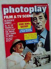 """PHOTOPLAY film magazine...(Nov 1978).USTINOV.""""Poirot""""..,MITCHUM....FREE  postage"""