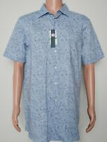 Perry Ellis #8195 NEW Men's Size Large Tall Stretch Button Front Shirt