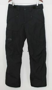 North Face Freedom Men's Insulated Ski Snowboard Pants Black Trousers Size M