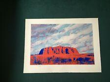 "Rolf Harris Limited Edition Print ""Raining on the Rock"""