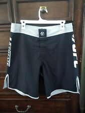 Official Ufc Black And Gray Mens Mma Fighting Shorts Size 32