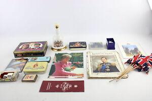 20 x Antique / Vintage ROYAL MEMORABILIA Inc Tins, Trinkets, Elizabeth II Etc