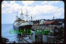 Original Slide, Dutch Cargo Ship Willemstad, 1950s