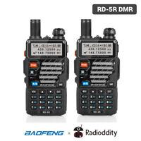 2Pcs Baofeng RD-5R DMR Tier2 Digital V/UHF Dual Band Transceiver Two way Radio