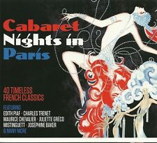 CABARET NIGHTS IN PARIS 40 FRENCH CLASSICS Inc EDITH PIAF, CHARLES TRENET & MORE