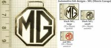 MG automotive decorative fobs, various designs & keychain options