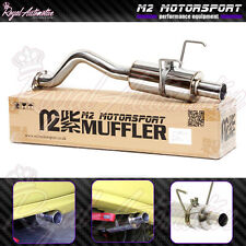 Honda Civic EG EK Performance Back Box Exhaust Spoon N1 Style Rolled Tip JDM M2