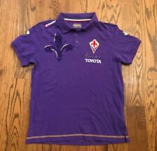 ACF Fiorentina Lotto Serie A Toyota Soccer Jersey Polo Shirt Men's Large Purple