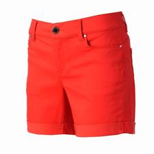 Juicy Couture Flaunt It Denim Jean Cuff Shorts Cayenne Red  pink Women s 14 06d3c9353