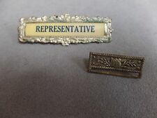 Pins for Ribbons- Badges- 2 items- Representative and Union Shield