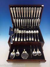 Old English Tipt by Gorham Sterling Silver Flatware Set 12 Dinner Service 90 Pcs