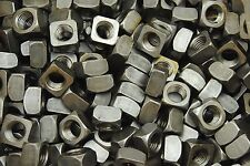 (50) Unplated 3/4-10 Square Nuts - Coarse Thread - Plain Steel