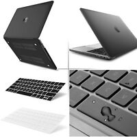 "Black Matte Rubberized Case Cover + Keyboard for MacBook Pro Air 13""15"" 12"""
