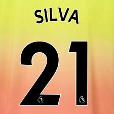 SILVA 21 19/20 PREMIER LEAGUE MAN CITY THIRD BLACK NAME & NUMBER SET = ADULTS