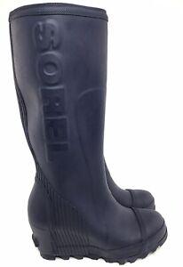 SOREL JOAN RAIN WEDGE TALL Boots Size 7
